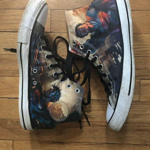 728007f2b482 Converse Other - ⬇️65 Superman Converse All Star High Tops 10